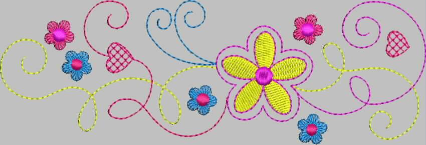 бесплатная программа вышивки цветок 3 от промосфера
