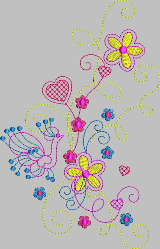 бесплатная программа вышивки цветок 4 от промосфера