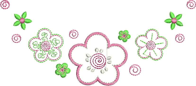 бесплатная программа машинной вышивки цветок