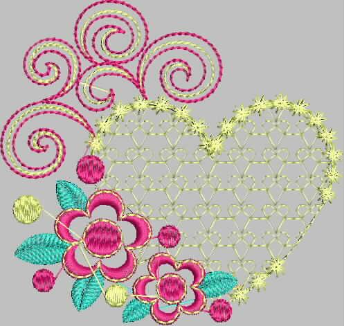 бесплатная программа машинной вышивки сердечко промосфера