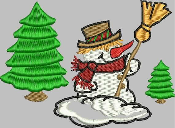 бесплатная программа машинной вышивки снеговик промосфера